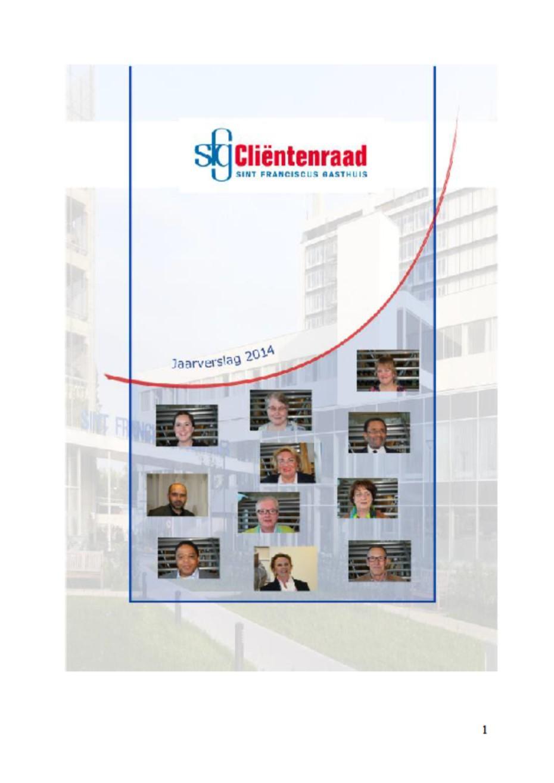 jaarverslag 2014 Cliëntenraad SFG Rotterdam